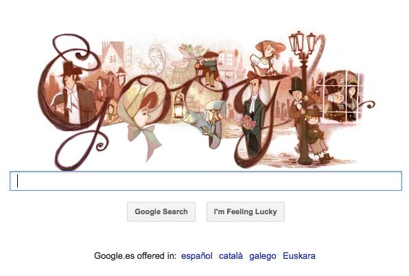 Google homenajea a Charles Dickens