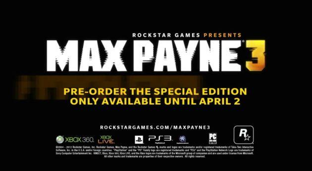 Nuevo tráiler de Max Payne 3, detalles de la historia