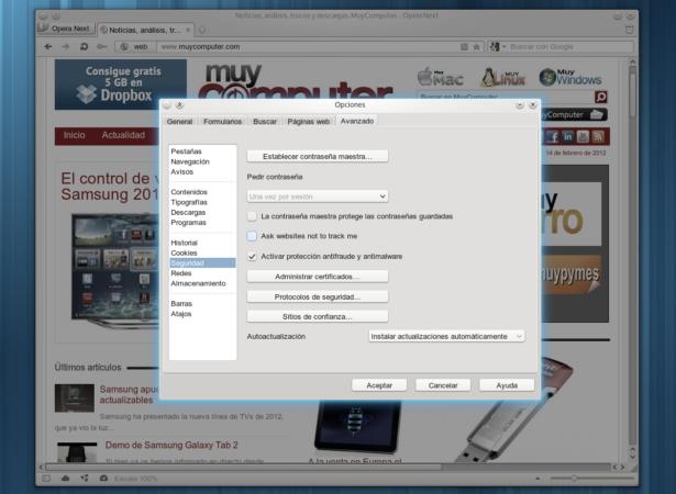 Opera 12 incluirá la tecnología antirastreo de Mozilla