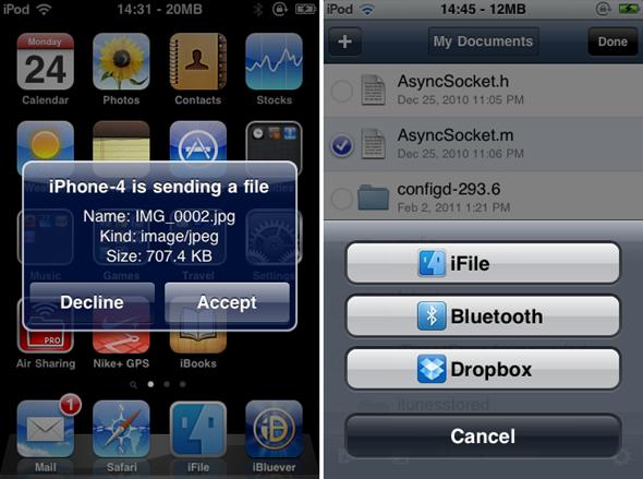 Envía y recibe archivos por Bluetooth con tu iPhone sin problemas con AirBlue Sharing