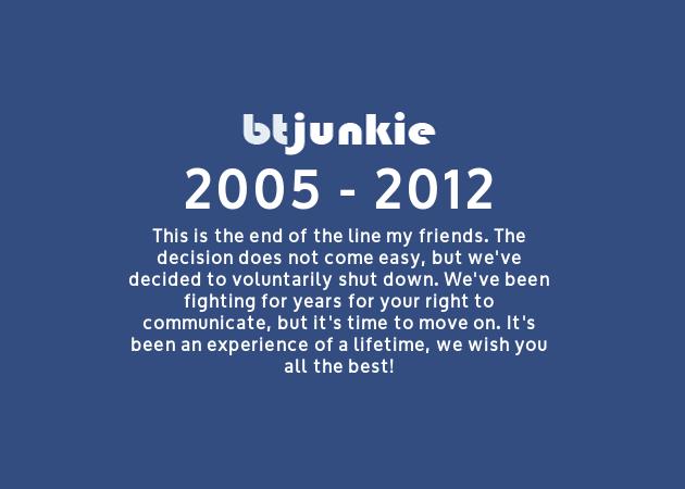Adiós a BTJunkie