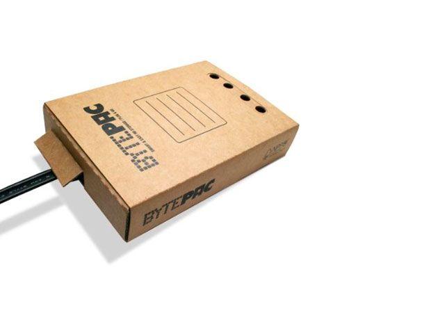BytePac, una caja de cartón para tu disco externo
