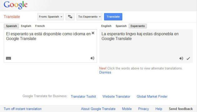 Google Translate ya traduce el idioma esperanto 29