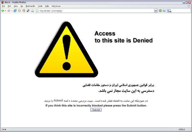 Irán limita el acceso al tráfico HTTPS