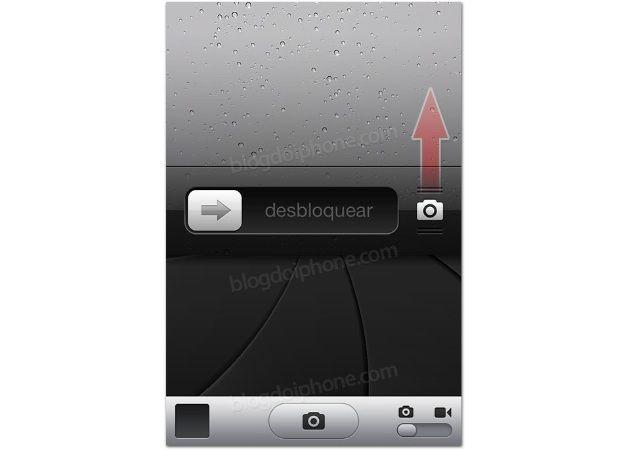 Nuevo acceso directo a la cámara desde la pantalla de desbloqueo en iOS 5.1