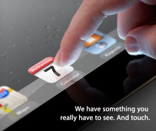 Apple confirma que el nuevo iPad 3 se presentará el 7 de marzo