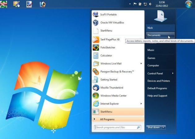 Como poner el botón Inicio de Windows 7 donde quieras