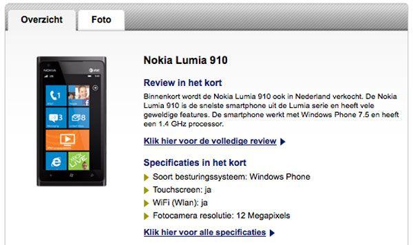 Nokia presentará un nuevo smartphone de gama alta en MWC 2012, ¿Lumia 910?