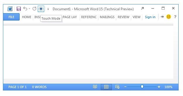 Microsoft Office 15 incluirá soporte para pantallas táctiles