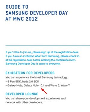 ¿Veremos un Samsung Galaxy Note 10.1 en MWC 2012? Parece que sí 32