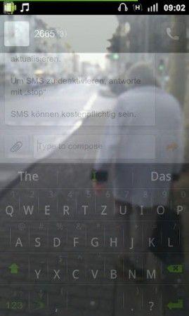 Evita los peligros de la calle cuando escribes SMS en Android con Transparent Screen 30