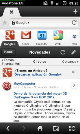 20120313 092809 270x450 Google+ renueva su interfaz móvil, más visual y accesible