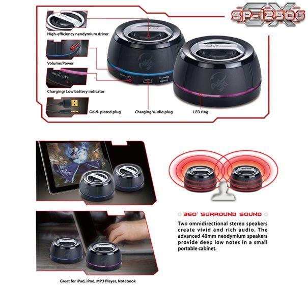Genius SP-i250G, altavoces portátiles de la lína GX Gaming 32