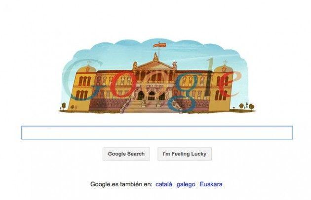Google homenajea los 300 años de la Biblioteca Nacional con su Doodle
