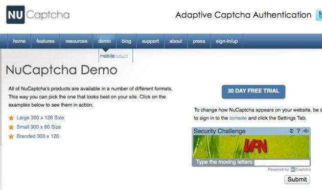 El futuro de los CAPTCHAs, formatos en vídeo