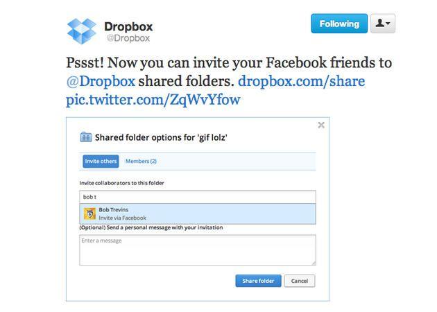 Dropbox se integra con Facebook 30