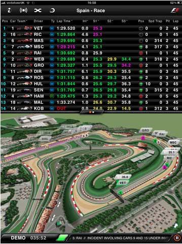 F1 Timing 2012 para iOS y Android ¡Vamos Alonso! 30
