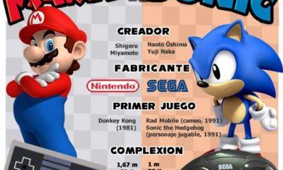 Mario versus Sonic, la infografía total 43