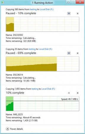 Windows 8 es más lento que Windows 7 copiando archivos 32