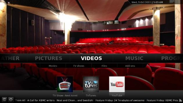 Disponible XBMC Media Center 11