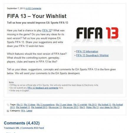 ¿Cómo te gustaría que fuera FIFA 13? 30