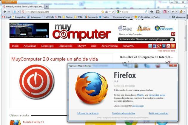 Firefox 11 disponible, con un arma estratégica contra Chrome 30