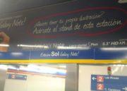 La céntrica estación de Metro de Madrid Sol pasa a ser Sol Galaxy Note por un mes 38