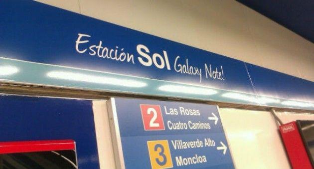 La céntrica estación de Metro de Madrid Sol pasa a ser Sol Galaxy Note por un mes