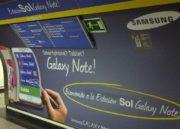 La céntrica estación de Metro de Madrid Sol pasa a ser Sol Galaxy Note por un mes 32