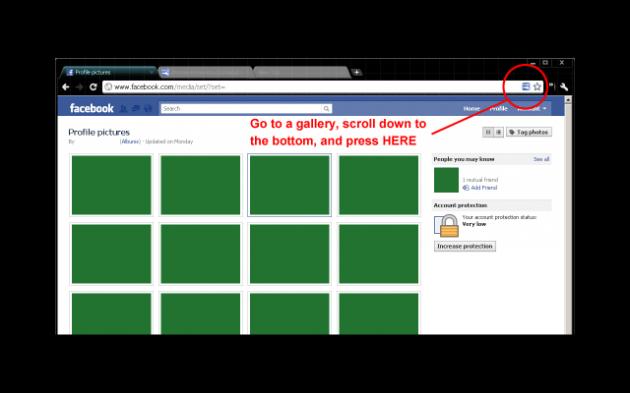 unnamed 630x393 Descarga toda tu galería de fotos de Facebook con un solo clic