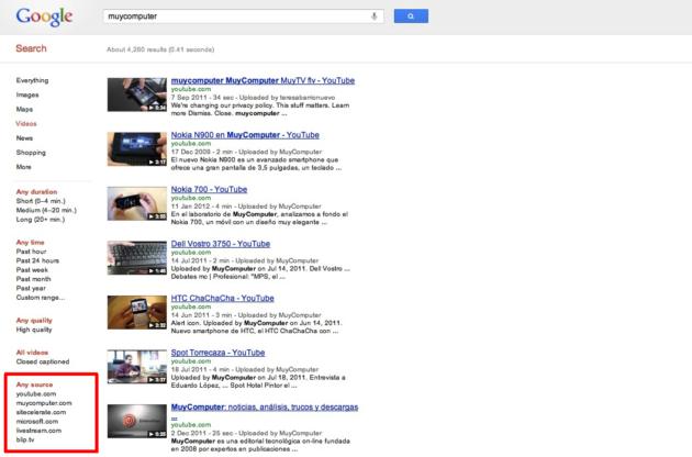 youtube busquedas 2 630x416 Google cambia la búsqueda de vídeos para promocionar YouTube