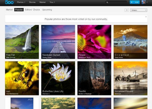 500px presenta sus cuentas Plus para competir con Flickr 28