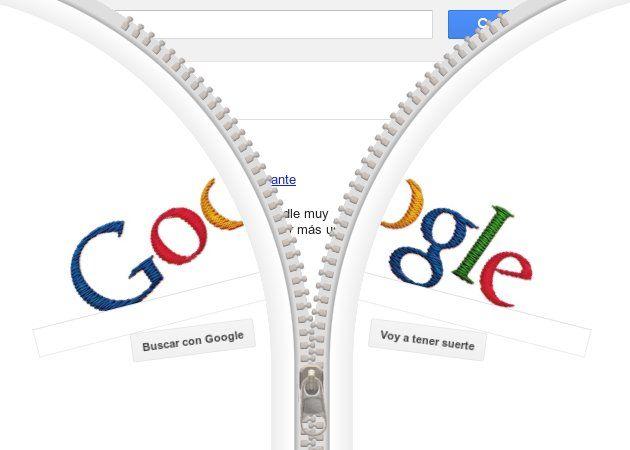 Doodle Google y la cremallera de Sundback