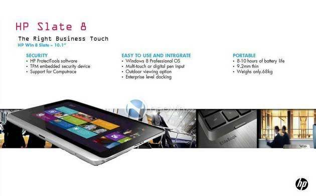 ¿Es este el futuro tablet empresarial de HP con Windows 8?