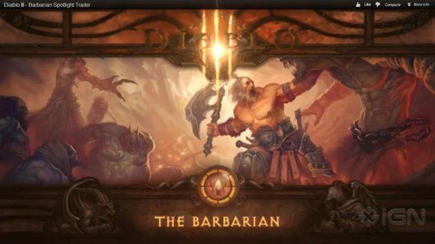 Tráiler de Diablo III : Barbarian 30