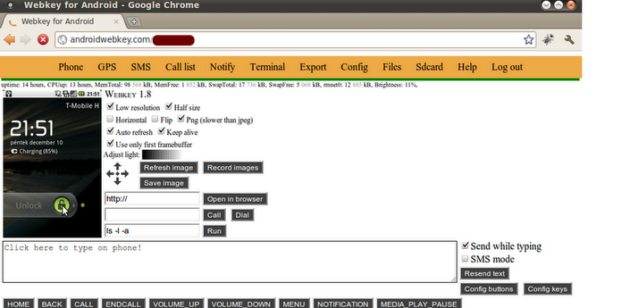 Control remoto desde cualquier navegador de tu Android con Webkey 28