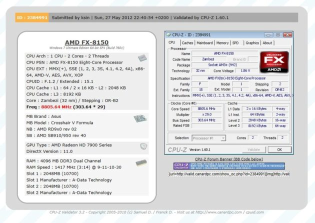 Overclock extremo: AMD FX-8150 a 8,80 GHz 30