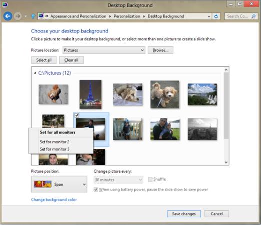 Windows 8 mejorará el soporte multimonitor en su Release Preview 36