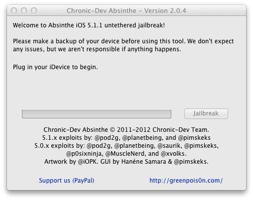 Absinthe 2.0.4 soluciona problemas jailbreak con iPhone 4S y soporta el nuevo iPad 2