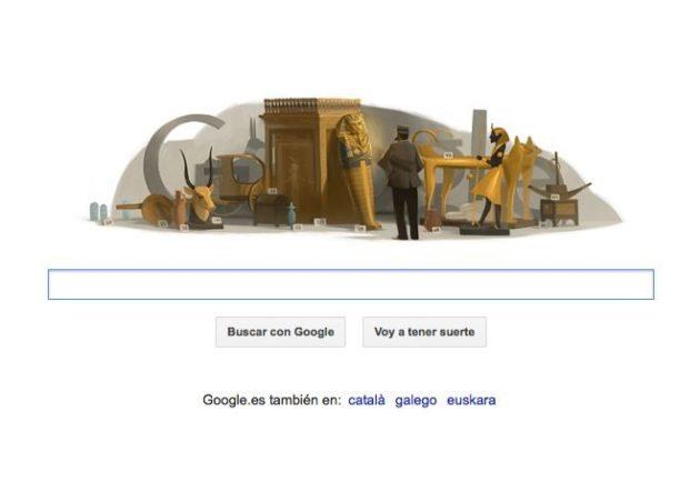 Doodle egipto howard carter