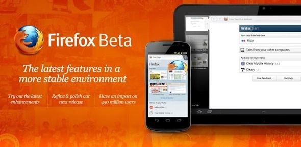 Nueva versión Firefox Beta para Android con soporte Flash, interfaz nativa y mucho más 38