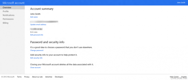 Filtración deja echar un primer vistazo a la web Microsoft Account 28