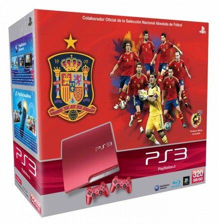 Edición limitada PS3 Roja para apoyar a la selección española de fútbol