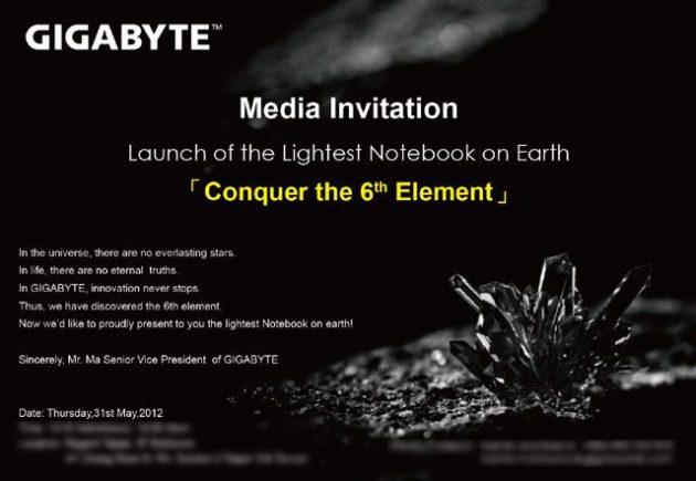 GIGABYTE X11, el portátil más ligero del mundo