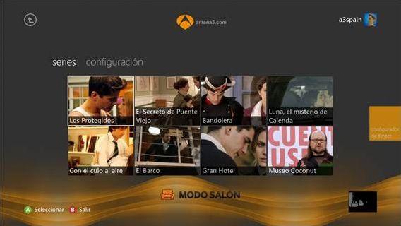 Las series de Antena 3 llegan a Xbox LIVE