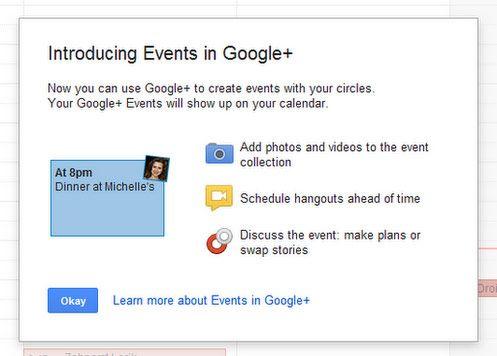 Events llegará a Google+ 31
