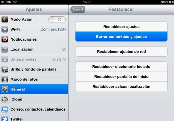 resetGuía Jailbreak untethered iOS 5.1.1 con Absinthe 2.0.4 para iPhone, iPod touch y iPad