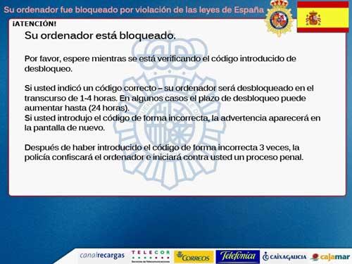 Cuidado con el malware de La Policía y la multa de la SGAE 27