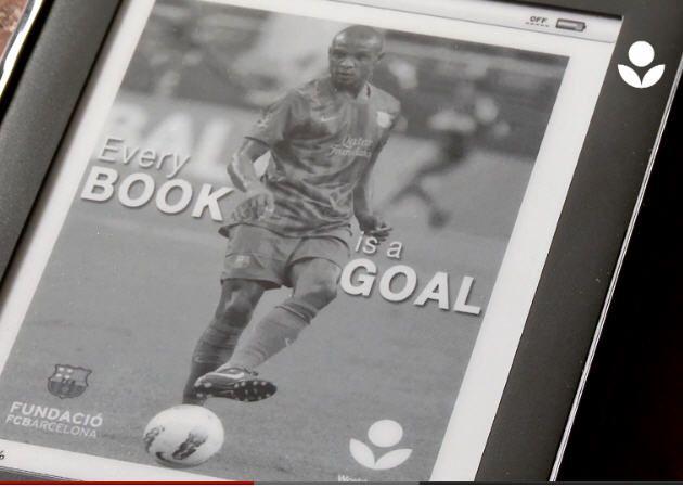 1 millón de e-books donados a África con la ayuda del Barça