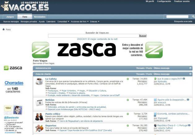 """Vagos.es se traslada a Zasca.com tras """"su cierre voluntario"""" gracias a la Ley Sinde 31"""